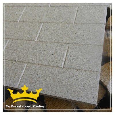 Vermiculiet plaat 25 mm. dik, steenmotief.
